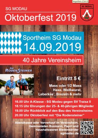 Oktoberfest zum Vereinsheim-Jubiläum