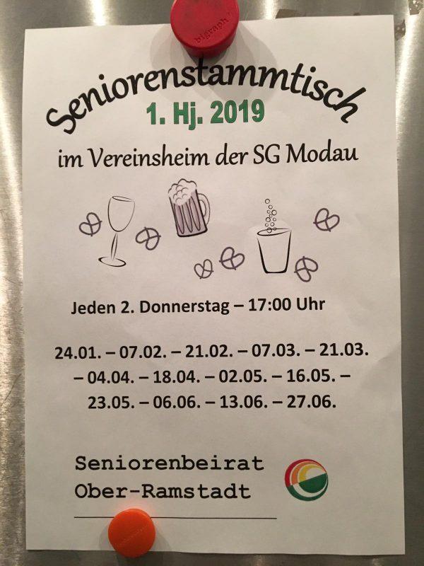 Seniorenstammtisch @ Sportheim SG Modau